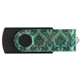 水の真新しい緑のダマスク織のフラッシュドライブ USBフラッシュドライブ