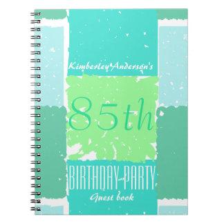 水の真新しい緑色の85th誕生日の来客名簿 ノートブック