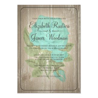 水の素朴な花の結婚式招待状 カード