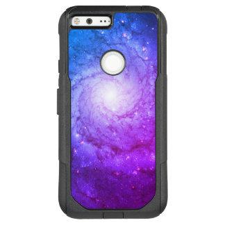 水の紫色の渦状銀河M74 オッターボックスコミューターGoogle PIXEL XL ケース