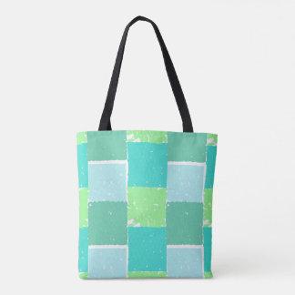 水の緑のミント色パターンバッグ トートバッグ