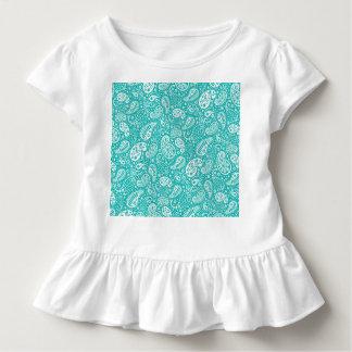 水の花のPaiselyパターン トドラーTシャツ