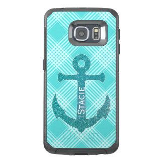 水の青いいかりのオッターボックスのSamsung S6の端の箱 オッターボックスSamsung Galaxy S6 Edgeケース