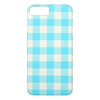 水の青いギンガムのiPhone 7のプラスの場合 iPhone 8 Plus/7 Plusケース