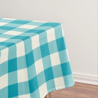 水の青いギンガムパターン点検のテーブルクロス テーブルクロス