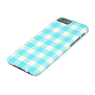 水の青いギンガムパターンiPhone6ケース Barely There iPhone 6 ケース