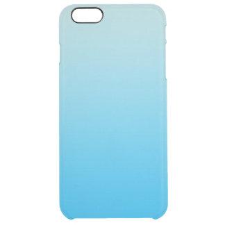 水の青いグラデーション クリア iPhone 6 PLUSケース