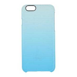水の青いグラデーション クリアiPhone 6/6Sケース
