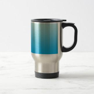 水の青いグラデーション トラベルマグ