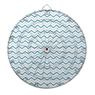 水の青いシェブロンパターン ダーツボード