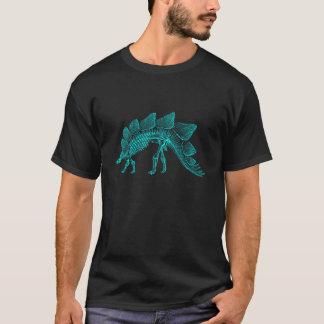 水の青いステゴサウルスの恐竜の骨組 Tシャツ
