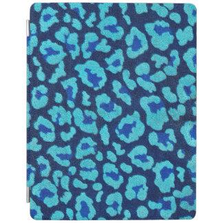 水の青いヒョウの点のUltrasuedeの一見 iPadスマートカバー