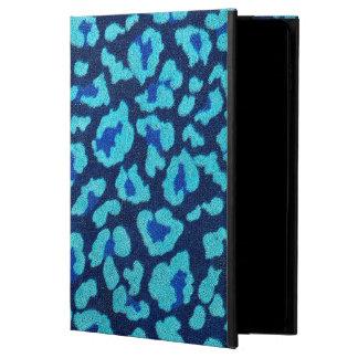 水の青いヒョウの点のUltrasuedeの一見 Powis iPad Air 2 ケース