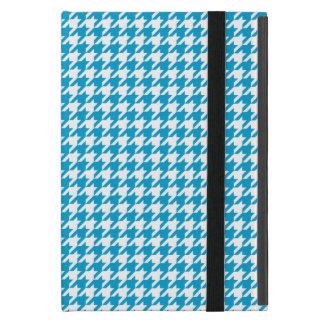 水の青い千鳥格子の iPad MINI ケース