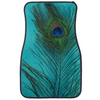 水の青い孔雀の羽の静物画 カーマット