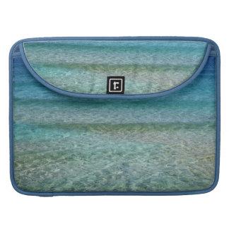 水の青い海水抽象美術のMacbookの袖 MacBook Proスリーブ
