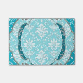 水の青および白いダマスク織 ポストイット