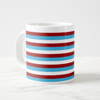 水の青およびMarsalaの素朴な国の冬 ジャンボコーヒーマグカップ