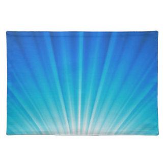 水の青くグラデーションな天空ライト ランチョンマット
