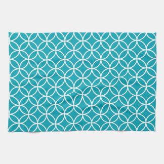 水の青く幾何学的な台所タオル キッチンタオル