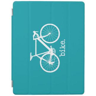 水の青のタイプライターのバイクのミニマルな芸術 iPadスマートカバー