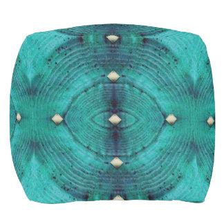 水の青の散りばめられた床パターン アウトドアプーフ