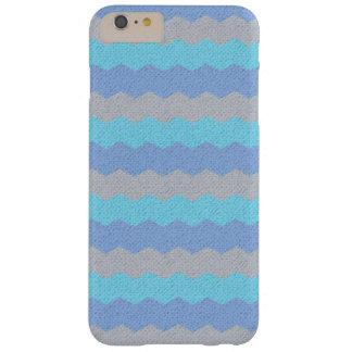 水の、青および灰色のシェブロン BARELY THERE iPhone 6 PLUS ケース