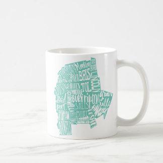 水のAddison郡のタイポグラフィのマグ コーヒーマグカップ