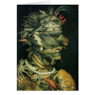 水のArcimboldo - 1566年 グリーティングカード
