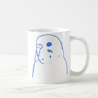 水のBudgieのポートレート コーヒーマグカップ