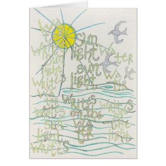 水は日光を書きますカードを書きます カード