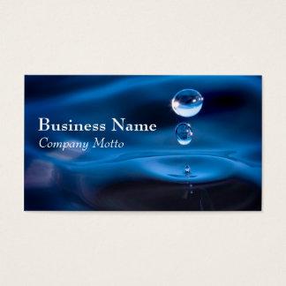 水は青く一般的な名刺を落とします 名刺