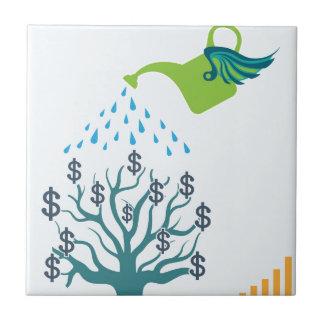 水まきのお金の木 タイル