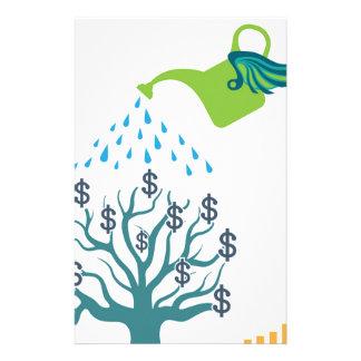 水まきのお金の木 便箋