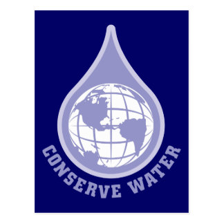 水を節約して下さい はがき