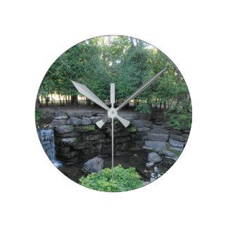 水オアシス ラウンド壁時計
