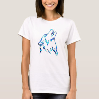水オオカミ Tシャツ