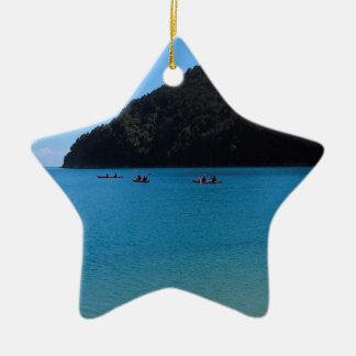 水カヤックを漕ぐ経験 セラミックオーナメント