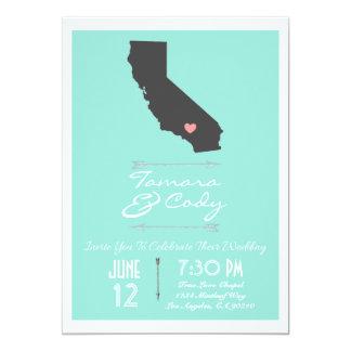 水カリフォルニア結婚式招待状 カード