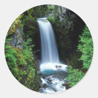 水クリスティーンの滝ワシントン州 ラウンドシール