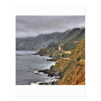 水スペインのな海岸の路傍 ポストカード
