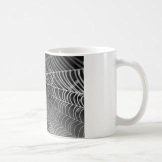 水ビーズが付いている蜘蛛の巣 コーヒーマグカップ