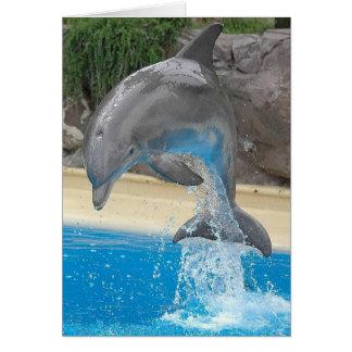 水メッセージカードのイルカの素早く書き留めること カード