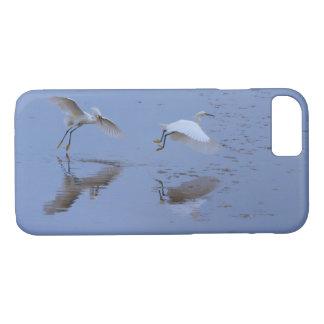 水上の飛行Snowy白鷺の鷲 iPhone 8/7ケース