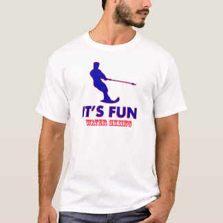 水上スキーのデザイン Tシャツ