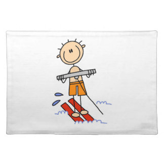 水上スキーの棒の姿 ランチョンマット