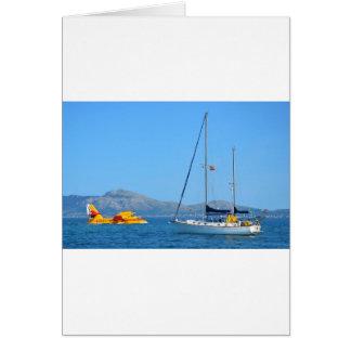 水上飛行機およびヨット カード