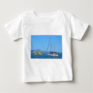 水上飛行機およびヨット ベビーTシャツ