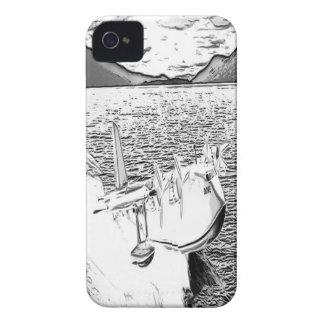 水上飛行機の鳩1 Case-Mate iPhone 4 ケース