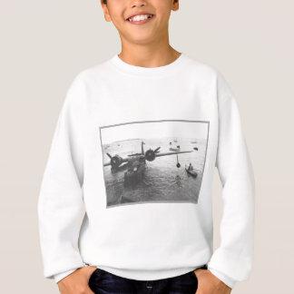 水上飛行機及びカヌー スウェットシャツ